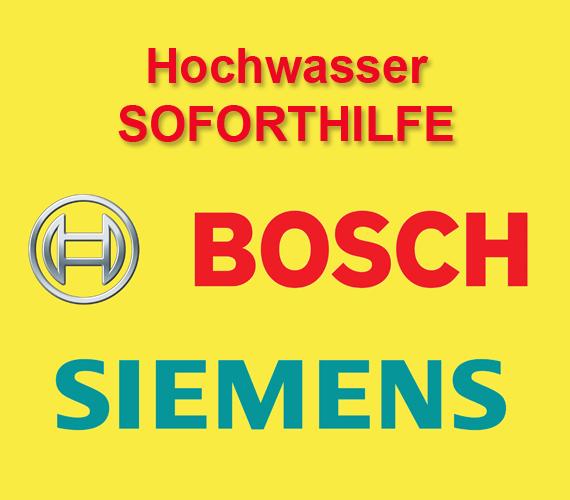 Bosch und Siemens Hochwasser Soforthilfe